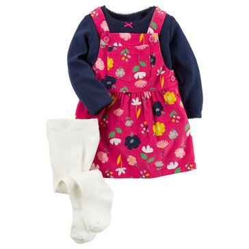 Carter's Baby Girls' 3-Piece Jumper Set
