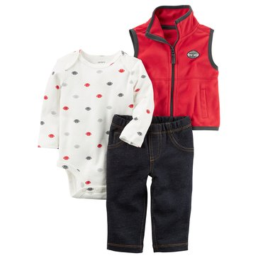 Carter's Baby Girls' 3-Piece Vest Set
