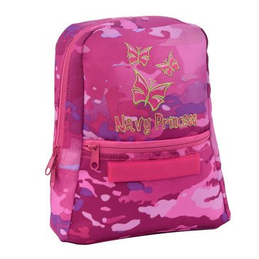 Flying Circle Girls' Navy Backpack - Type  III Pink