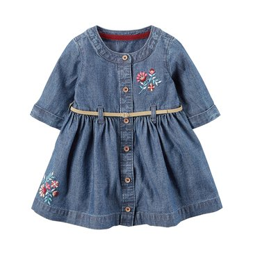 Carter's Baby Girls' Denim Dress