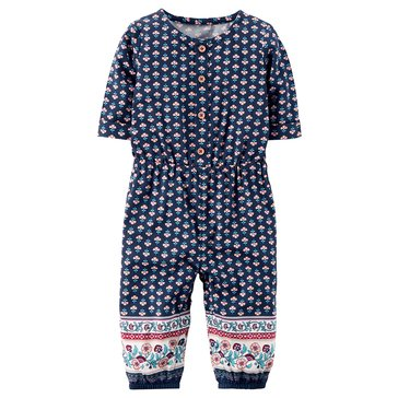 Carter's Baby Girlls' Geo Jumpsuit