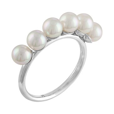 Majorica 6mm White Round Simulated Pearl Ring