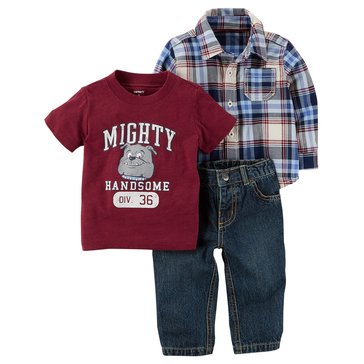 Carter's Baby Boys' 3-Piece Woven Pant Set