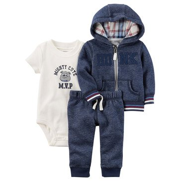 Carter's Baby Boys' 3-Piece Cardigan Pant Set