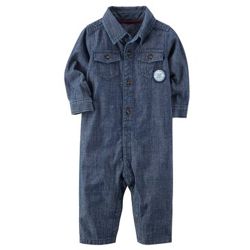 Carter's Baby Boys' Denim Jumpsuit