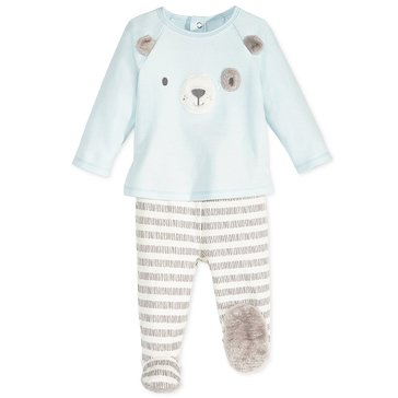 First Impressions Baby Boys' Dog Footie Set, Blue Billow