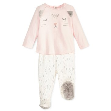First Impressions Baby Girls' Cat Footie Set