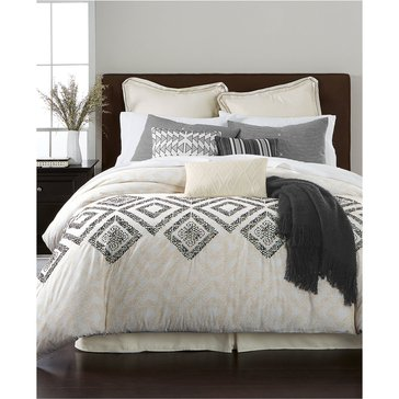 Martha Stewart Collection Rough Diamonds 10-Piece Comforter Set - King