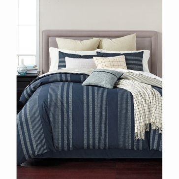 Martha Stewart Collection Raindrop Stripe 10-Piece Comforter Set - Queen