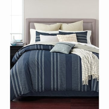 Martha Stewart Collection Raindrop Stripe 10-Piece Comforter Set - King