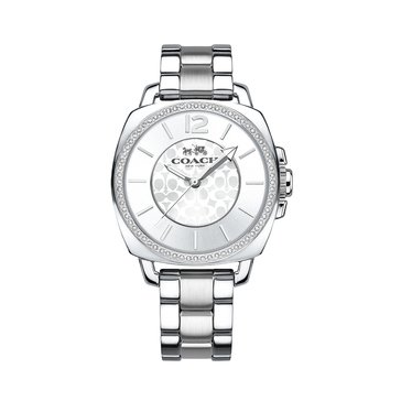 Coach Women's Boyfriend Watch 14502147, Silver Tone 34mm