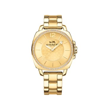 Coach Women's Boyfriend Watch 14502148, Gold Tone 34mm