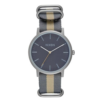Nixon Men's The Porter Nylon Watch A1059-2440, Grey/ Taupe 40mm