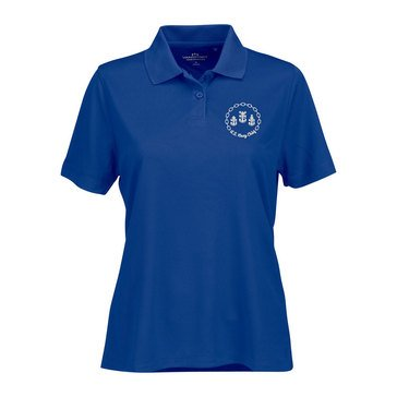 Vantage Women's 3 Chief Anchor Omega Solid Mesh Tech Short Sleeve Polo