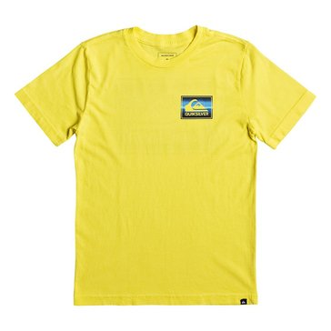 Quiksilver Big Boys' Box Spray Tee, Buttercup