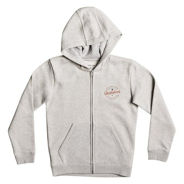 Quiksilver Big Boys' Jumja Zip Hoodie, Grey