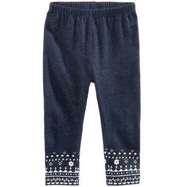 First Impressions Baby Girls' Western Geo Border Leggings, Midnight Sky