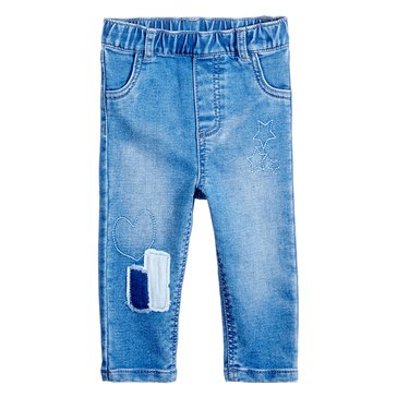First Impressions Baby Girls' Shadow Patch Jeans