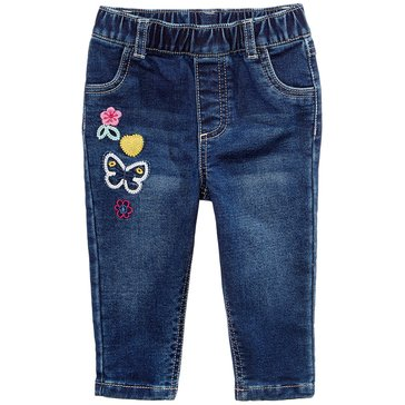 First Impressions Baby Girls' Patches Jeans, True Blue Wash