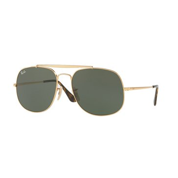 Ray-Ban Unisex General Sunglasses Gold/Green Classic 57mm