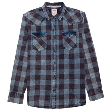Levi's Men's Bleesh Twill Washed Plaid Vintage Long Sleeve Shirt