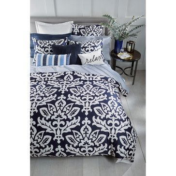 Charter Club Damask Navy Comforter Set - Full/Queen