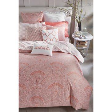 Charter Club Damask Scalloped Poppy Comforter Set - King