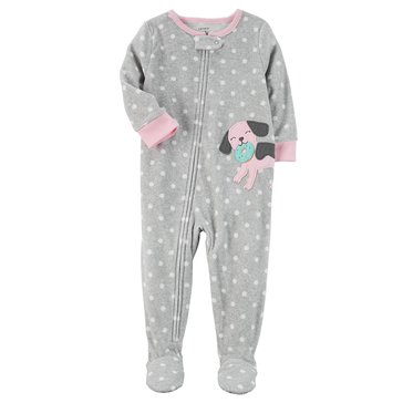 Carter's Baby Girls' Fleece Pajamas, Dog