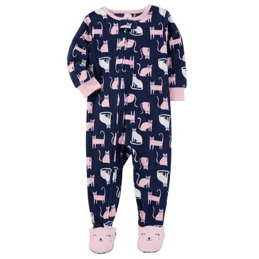 Carter's Baby Girls' Fleece Pajamas, Cats