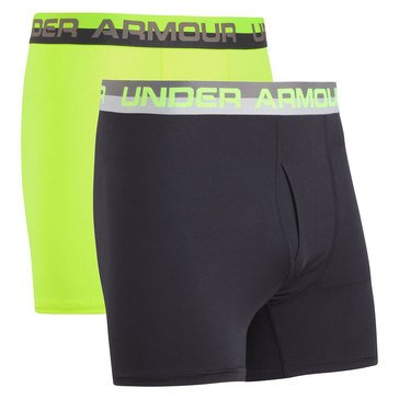 Under Armour Big Boys' 2-Pack Solid Performance Boxers, Yellow