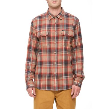 Obey Clothing Men's Marvyn Long Sleeve Sand Flannel Shirt