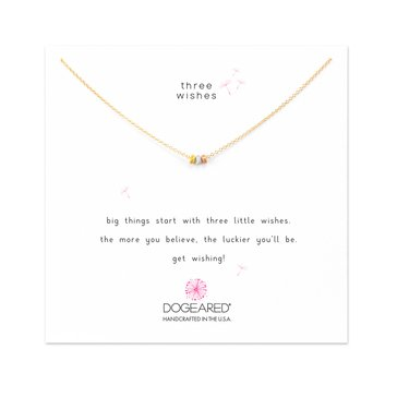 Dogeared Three Wishes Stardust Beads Necklace, Tritone