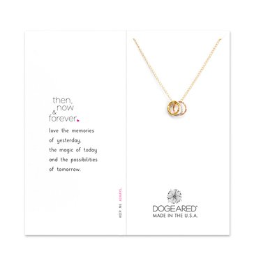 Dogeared Then, Now And Forever Sparkle Karma Necklace, Tritone