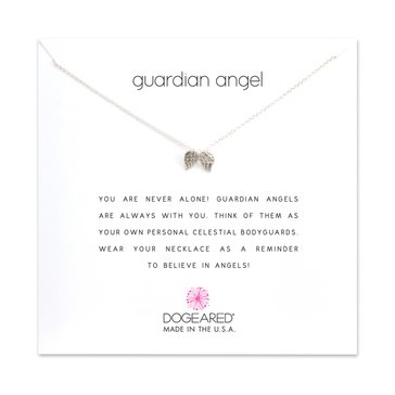 Dogeared Guardian Angel Wings Necklace, Sterling Silver