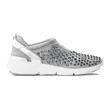 Michael Kors Ace Trainer Women's Slip On Shoe Mirror Metallic Silver