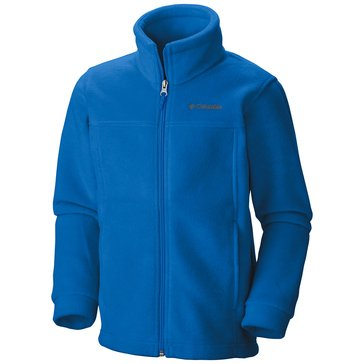 Columbia Big Boys' Steens II Full-Zip Fleece Jacket, Super Blue