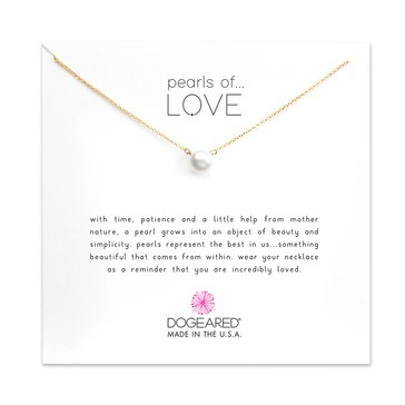 Dogeared Pearls Of Love Freshwater Pearl Necklace, Gold Dipped