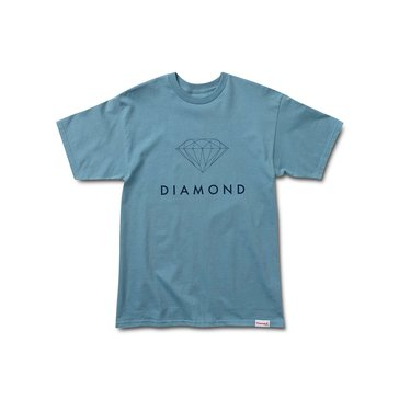 Diamond Supply Men's Futura Sign Short Sleeve Slate Tee