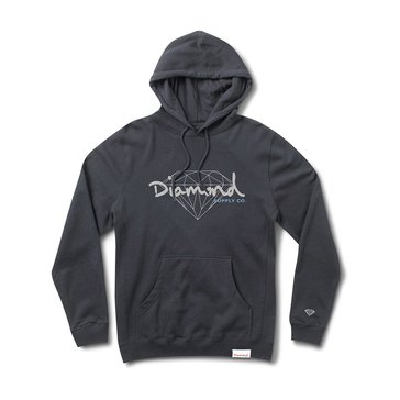 Diamond Supply Men's Brilliant Script Navy Pullover Fleece Hoodie
