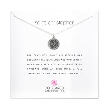 Dogeared Saint Christopher Reminder Necklace, Sterling Silver