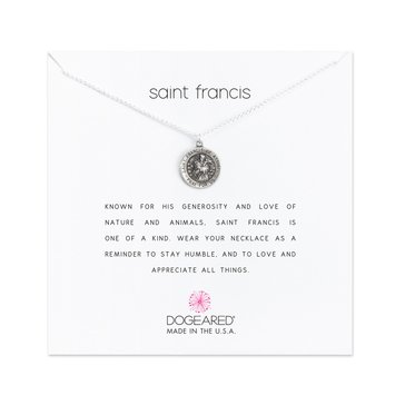 Dogeared Saint Francis Reminder Necklace, Sterling Silver