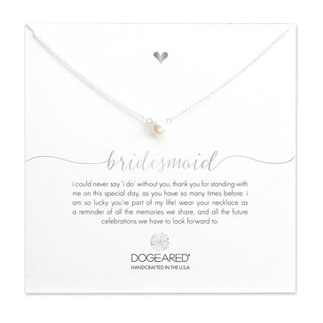 Dogeared Bridesmaid Necklace, Sterling Silver