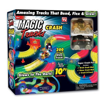 As Seen On TV Magic Tracks Crash Set - Glow In The Dark Race Track Theme Unit