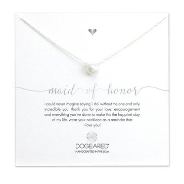 Dogeared Maid Of Honor Necklace, Sterling Silver