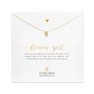 Dogeared Flower Girl Necklace, Sterling Silver