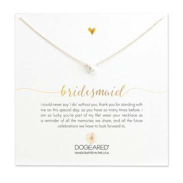 Dogeared Bridesmaid Necklace, Gold Dipped