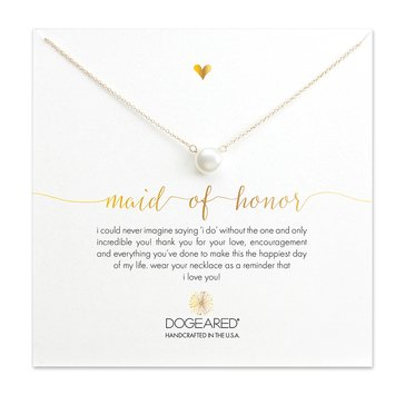 Dogeared Maid Of Honor Necklace, Gold Dipped