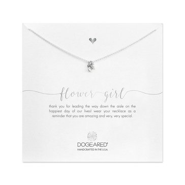Dogeared Flower Girl Necklace, Gold Dipped