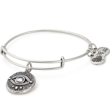 Alex and Ani Evil Eye Expandable Bangle, Silver Finish