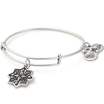 Alex And Ani Healing Love II Bangle, Silver Tone